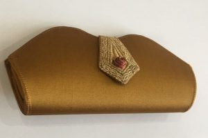 Gold clutch bag £10